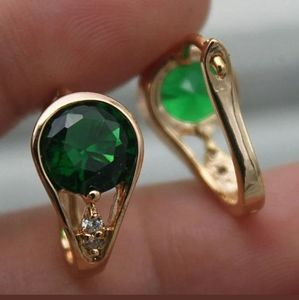 New 18ktgf emerald cz buggies earrings